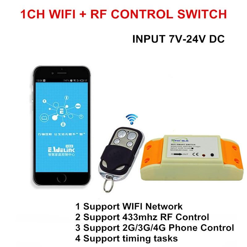 2017 heißer 1CH 7 24 V DC WIFI Schalter Gesteuert durch Handy APP ...