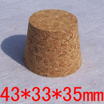 50pcs/lot 43*33*35(H) DIY Wood Cork Stoppers, High Quanlity Sealing Lids for Glass Bottles, Conical Cork Stoppers фото