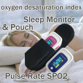 with Pouch Pulse Oximeter with oxygen desaturation index function Sleep Monitor PR SPO2
