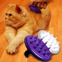 Soft Silicone Brush Dog Grooming Comb Dog Massage Bath Brush Pet Hair Remover Dog Fur Accessories