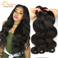 Indian Virgin Hair Body Wave 3 Bundle Raw Indian Hair Unprocessed Indian Body Wave Remy Human Hair Weaves Indian Hair Bundles