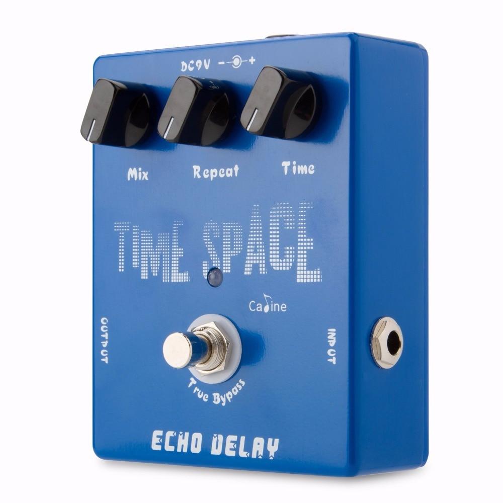 Pedal de efecto de guitarra Caline CP-17 Echo Delay Pedal de efecto de guitarra Caline Pedal de retardo digital 600 ms Max Bypass True Silver Accesorios