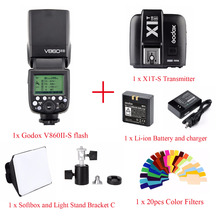 Godox V860II TTL HSS Li-ion Battery Speedlite Flash For Sony,V860II-S Flash + X1T-S Trigger + Color Filter + Softbox + bracket C