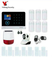 Yobangsecurity wifi gsm gprs rfid Беспроводной дома Бизнес офис охранной Охранной Сигнализации Системы Солнечный Мощность Siren видео ip Камера