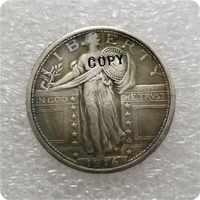 EUA 1916-P Moneda de cuarto de la libertad de pie copia monedas conmemorativas-réplica monedas de medalla coleccionables