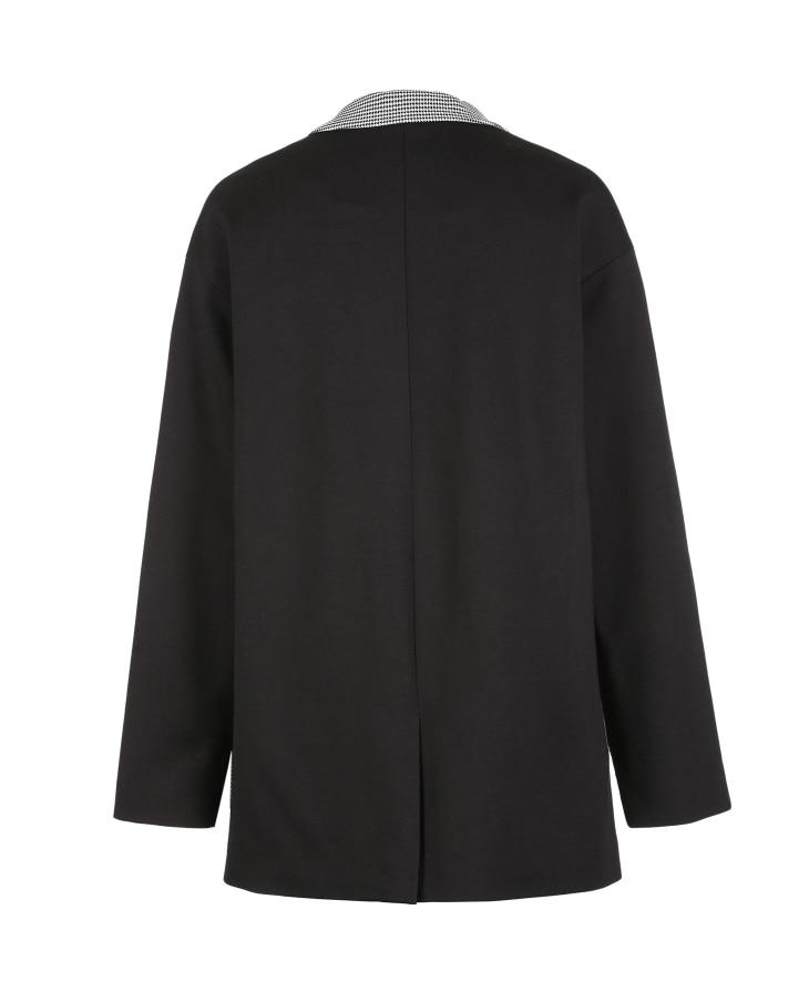 Vero Moda 19 New Stripe Splice Knitted Houndstooth Suit Jacket Plaid women Long Blazer 318308536 20
