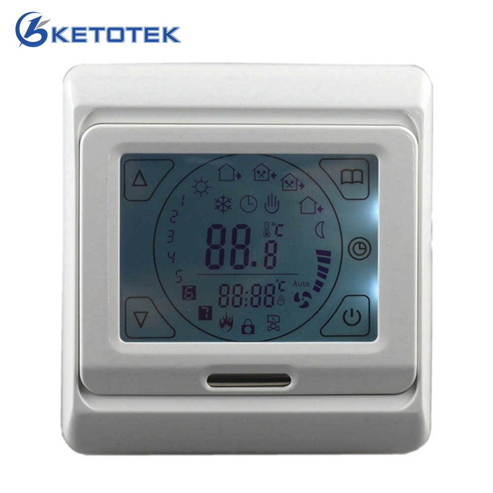 Digital LCD Floor Heating Thermostat 16A Touch Screen Programmable Room Warm Temperature Controller Blue Backlight 2017 220v lcd programmable electric digital floor heating room thermostat blue backlight weekly warm floor controller