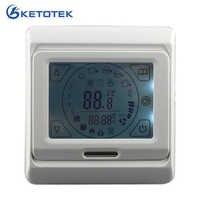 Digitale LCD Vloerverwarming Thermostaat 16A Touchscreen Programmeerbare Kamer Warm Temperatuurregelaar Blauw Backlight 2017