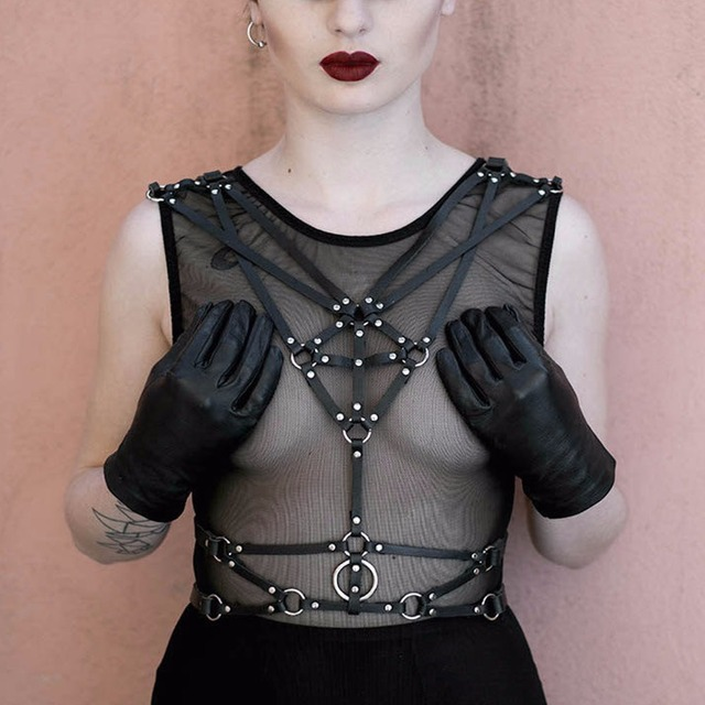 Cosplay women belts gothic punk party leather harness belts apparel accessroy for sexy lingerie