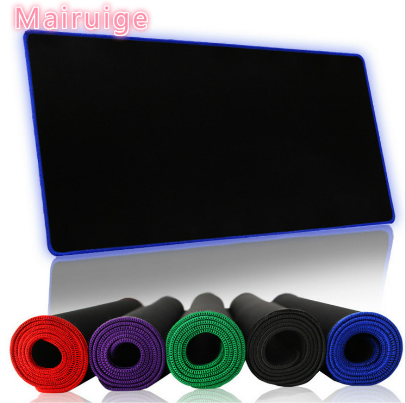 Pure black <font><b>600</b></font> * <font><b>300</b></font> mm rubber keyboard game keyboard mouse pad pad lock table MATS edge computer laptop table mat as a gift image