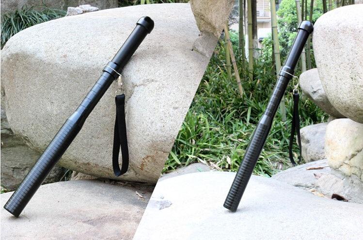 Купить с кэшбэком Self-Defense Flashlight Outdoor Emergency LED Long Flashlight 3 Mode Rechargeable Baseball Bat Anti-Riot Security Equipment
