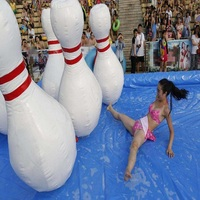 Inflatable bowling bottle use for zorb ball( human hamster ball), 1.5M ( 4.9 feet) hight