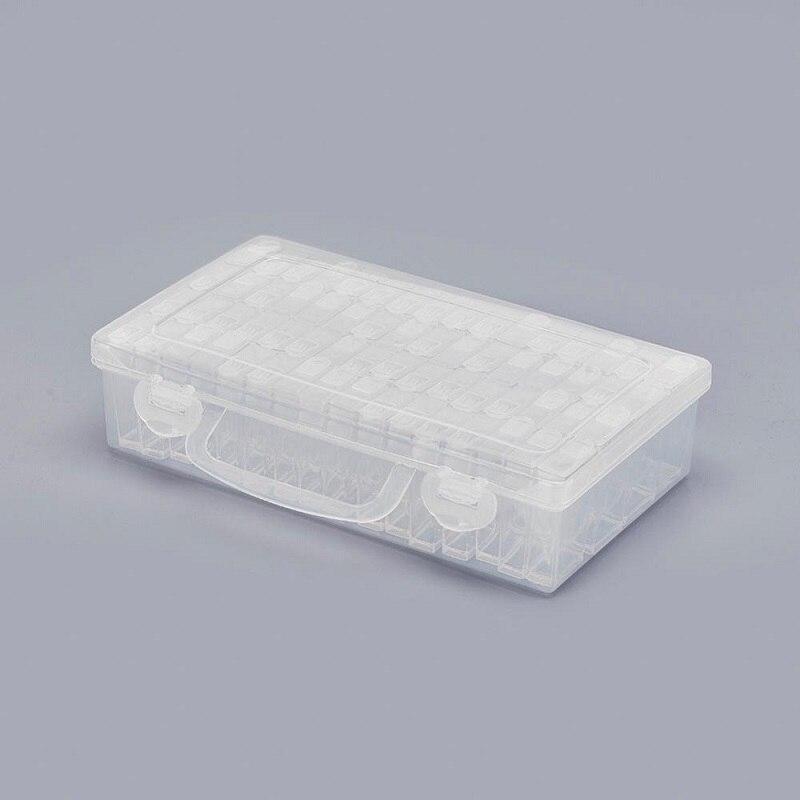 Contas Recipiente transparente Diamante Rhinestone Daimond Pedra Tampa com Furo Pintura Diamante Acessório Caixa de Armazenamento Organizador