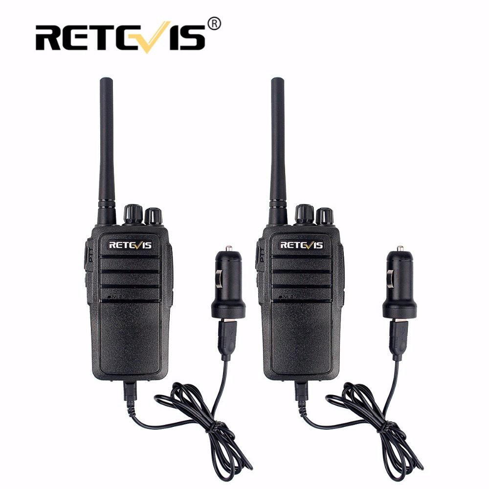 2pcs Ruggued Use Retevis RT21 Walkie Talkie Portable USB Car Charger 2.5W 16CH UHF Scrambler VOX Sca Professional Two-way Radio