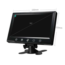Brand New 9 inch Color LCD Screen Car Monitor Rear view Function CCTV TFT LCD Monitor for Truck Van Bus Free Shipping