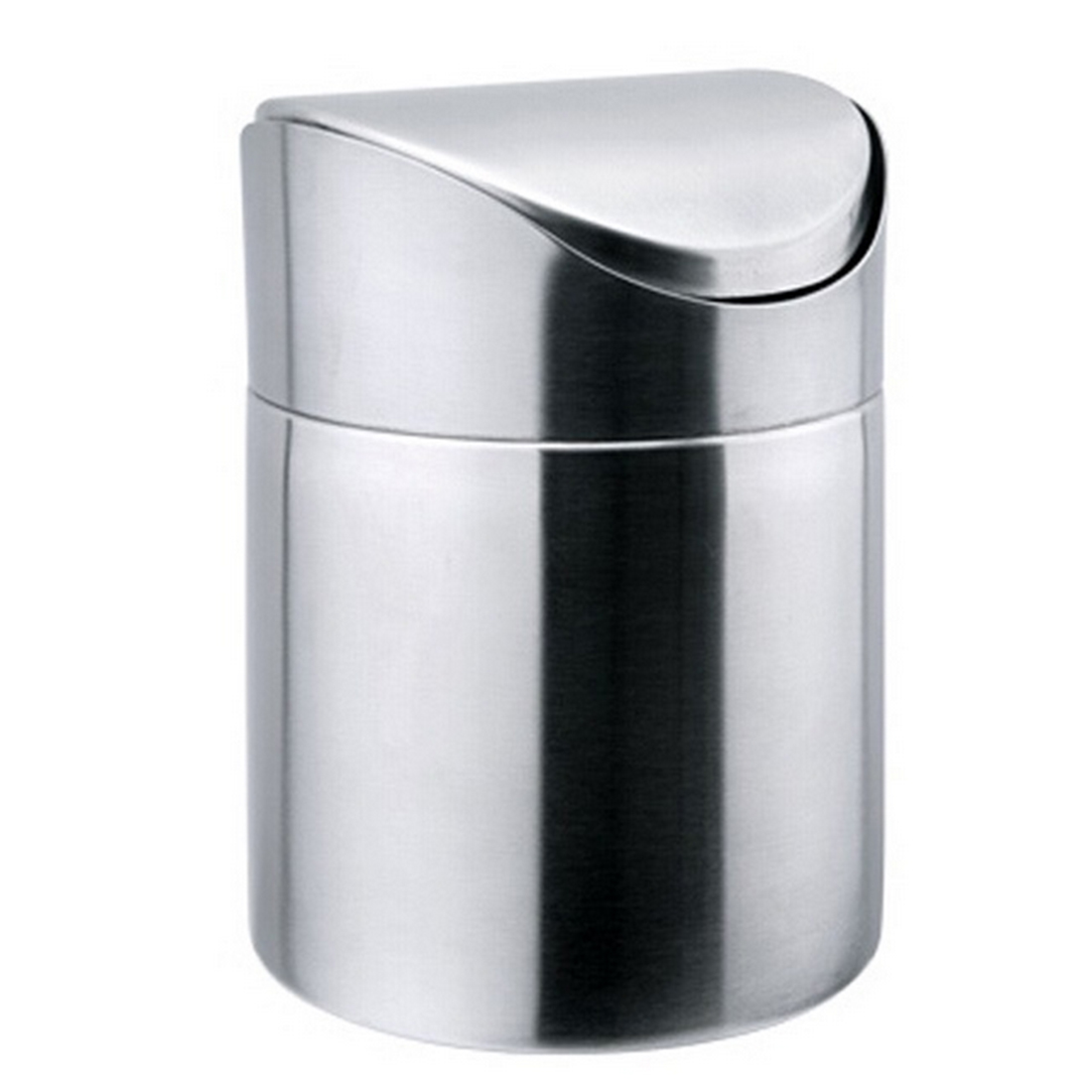 Stainless Steel Mini Desktop Trash Can with Swing Lid Storage ...