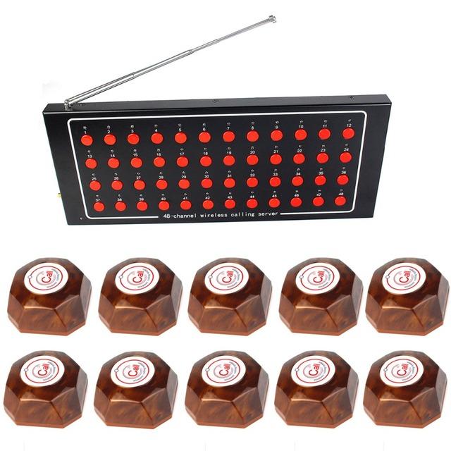 1 Receptor + 10 Botão de Chamada de Enfermeira do Hospital Sistema de Chamada Sem Fio Chamada Sistema De Paginação Chamada Pager F4423A