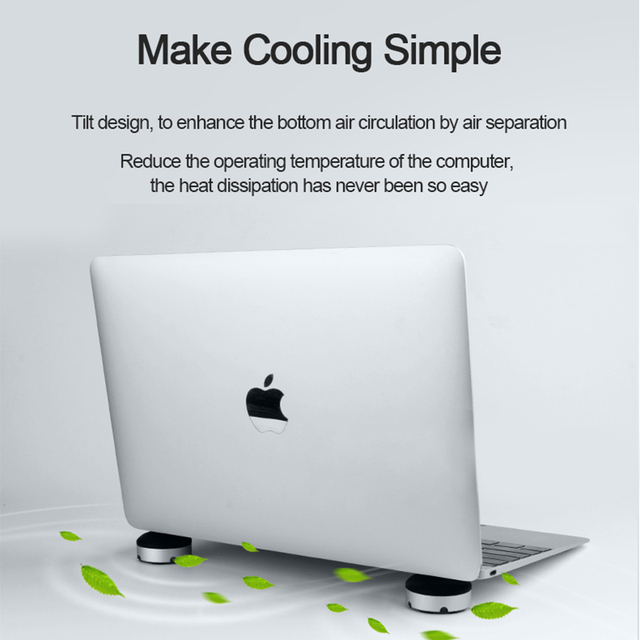 Hagibis Laptop Stand Portable Cooling Pad For MacBook Laptop Notebook Cool Ball Heat Dissipation Skidproof Pad Cooler Stand Laptop Stand
