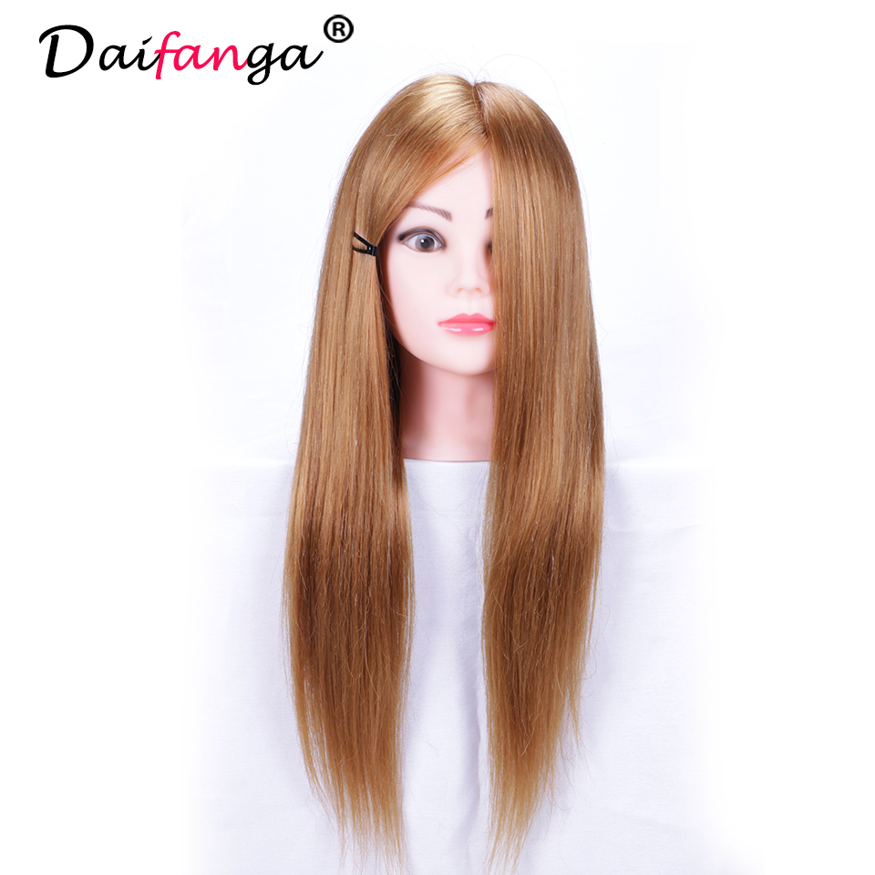 Good Quality Hairdressing Training Heads 50% Human Hair 22 ...