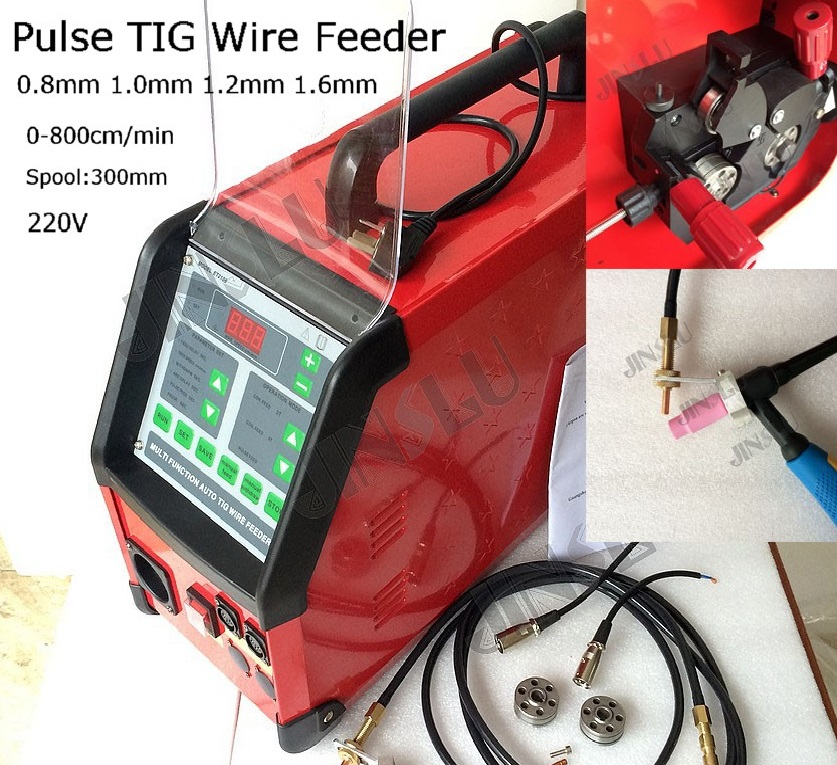 Digital Controlled Pulse Tig Wire feeder Wire Feed Mahcine for Automatic Tig Welding welding machine parts semi automatic tig wire feeder feed machine sb 11 p