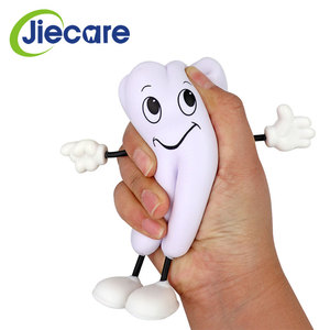 1pc Tooth-figure Squeeze Toy Soft PU Foam Tooth Doll Model Shape Dental Clinic Dentistry Promotional Item Dentist Gift