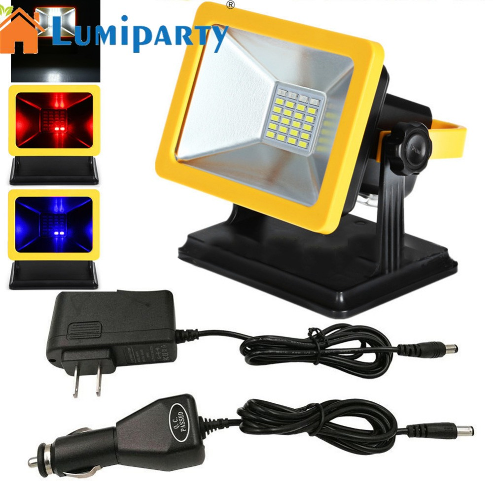 LumiParty 15W Portable LED Camping Lamp Charging Spotlights Light Emergency Light Project Light For Outdoor Activities