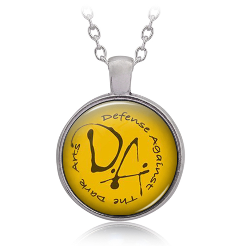 Halloween Christmas New Year Gift HP Defense Afainst The Dark Arts DA Pattern Time Gem Cabocho Necklace Birthday Present