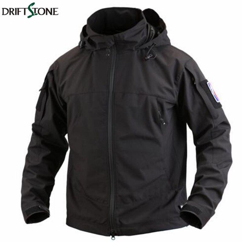 Nouveau automne hommes Style militaire coque souple à capuche veste imperméable tactique veste armée vêtements manteau vêtements d'extérieur coupe-vent veste