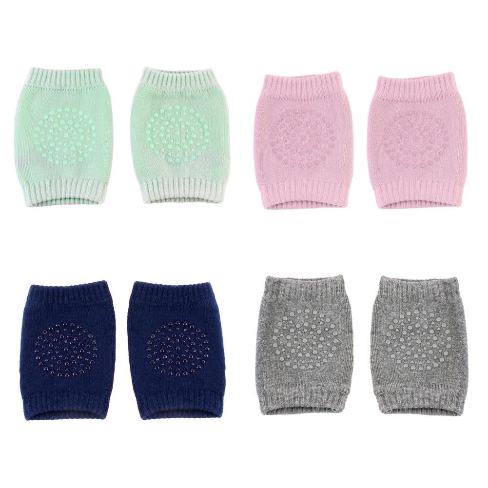 Meias da criança curto joelho rastejando protetor rastejando meias do bebê crianças meias de segurança joelheiras para proteção infantil perna