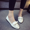 New Fashion 2016 Summer Korean Style Woman Flats Cut-outs Breathable Bowtie Flat Single Shoes Sweet Concise Casual Flats ST385