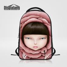 Dispalang женские дорожные сумки для ноутбуков для женщин стильные мультфильм печати школьные Back Pack для девочек-подростков ежедневно рюкзак Mochilas