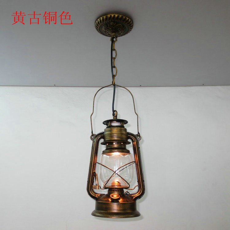 The PENDANT of restoring ancient ways chandelier European single head lantern chandeliers lamps Retro nostalgia light bar GY122 vintage ceramic aluminum screw caps single seat head chandelier chandelier designer can be installed lantern shade accessories