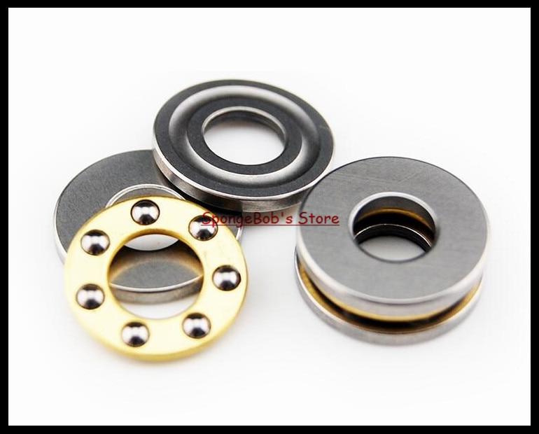 цена 10pcs/Lot F5-10M 5mm x 10mm x 4mm 5x10x4 mm Axial Ball Thrust Bearing