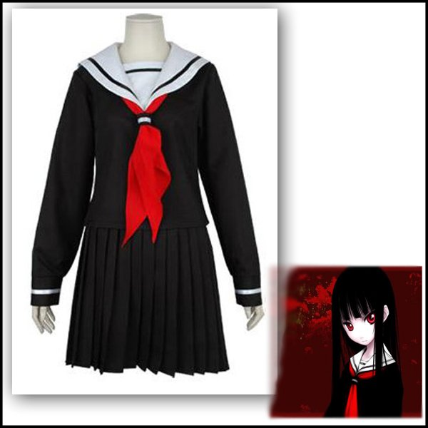 Hot selling jigoku shoujo anime cosplay costumes low cost animation dress hell