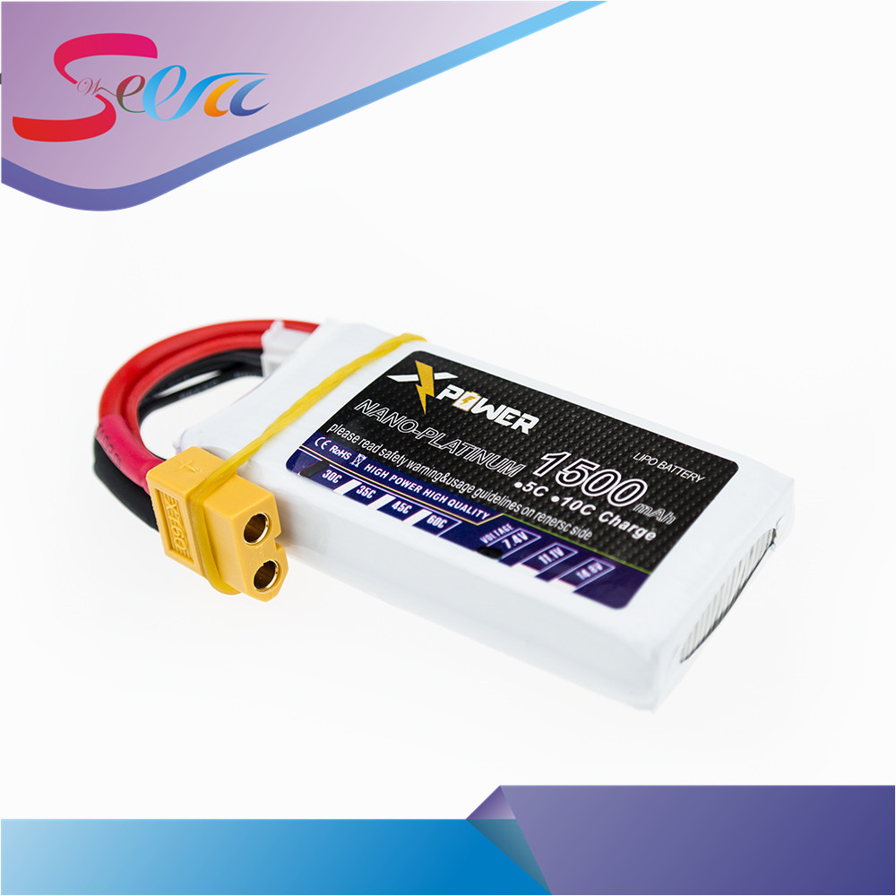 7.4V 1500mAh Lipo Battery 30C MAX 35C Xpower 2S XT60/T Battery For RC Helicopter Quadcopter Drone Part Radio Control VS VOK mini drone rc helicopter quadrocopter headless model drons remote control toys for kids dron copter vs jjrc h36 rc drone hobbies
