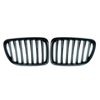 1Set Upgrade Euro Sport Gloss Black Front Slat Grilles SUV Kindly Grill For BMW E84 X1 2010 2015 Car Styling