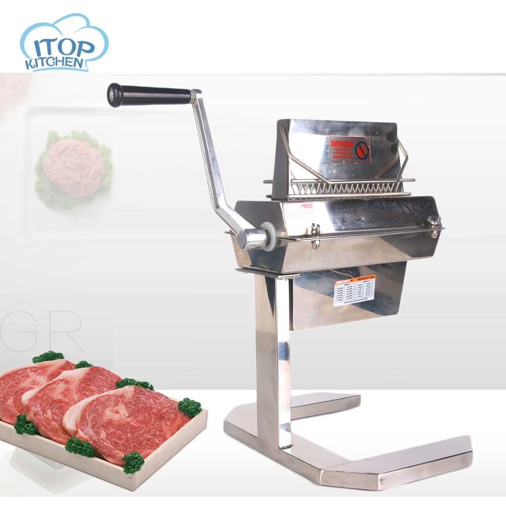 ITOP MTS5 5''WIDE Manual Meat Tenderizer Meat Cuber Makes meat more delicious Stainless Steel Commercial and Home use