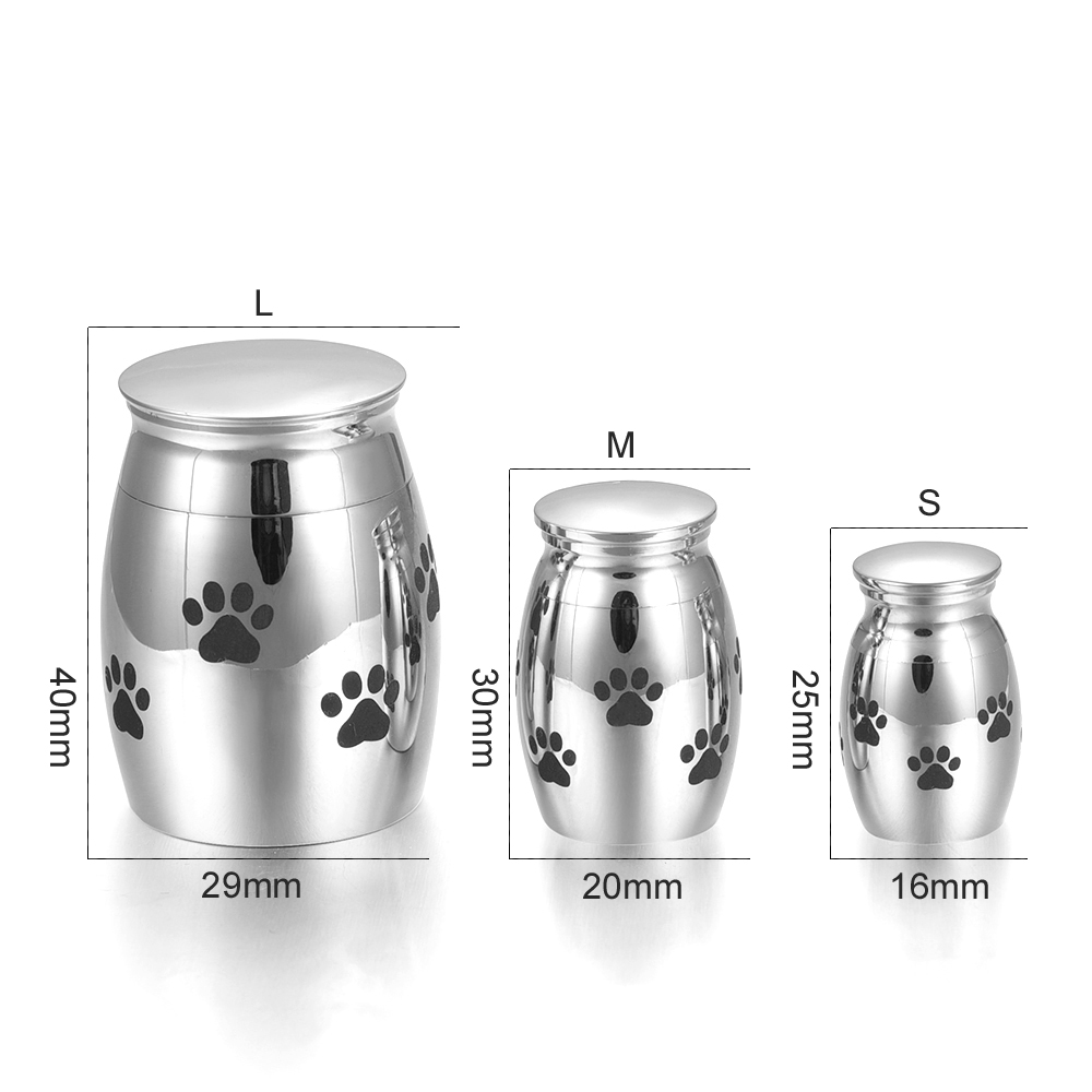 Customized Adult Cremation Urn Beautiful Funeral Urns with Keepsake and Personalisation Pet Dog Cats Paws Pattern