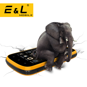 E&L W5 Mobile Phone Android Original Phones Waterproof Shockproof Phone Quad Core Touch Phone Smartphone 4G Unlocked CellPhones mobile phone