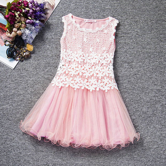 Korean flower summer lace baby Girls sleeveless tutu