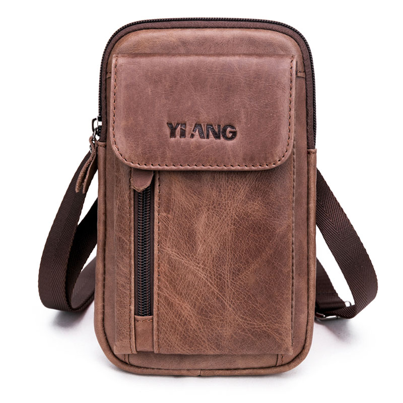 New Men Genuine Leather Business Waist Pack Bags Hip Bum Purse Fashion Cowhide Small Cross Body Fanny Messenger Shoulder Bag 100% genuine leather small business men messenger bags cowhide travel shoulder bags for men cross body chest packs 2016