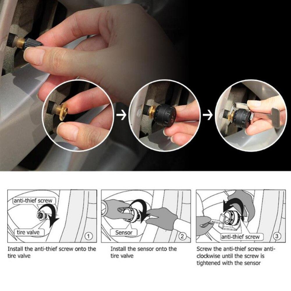 Ángulo giratorio TP500 Pantalla TPMS más nueva con conector USB - Electrónica del Automóvil - foto 5