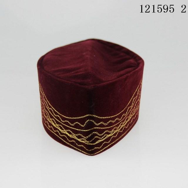 Embroidery Muslim Prayer Cap islamic , caps Malaysia men's