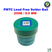 Free Shipping PMTC 250K 0 5mm Lead Free Leaed Free Solder Balls For Bga Chip Reballing