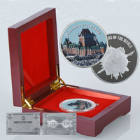 WR 999 Gold Bar Sliver Coins Canada Chateau Frontenac Commemorative Metal Golden Festival Ornament For Collection
