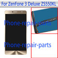 Gold 5.5 inch Full LCD Display + Touch Screen Digitizer Glass Assembly For Asus ZenFone 3 Deluxe TD-LTE ZS550KL Free Shipping