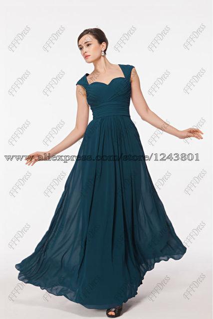 Vestidos de fiesta en color azul petroleo
