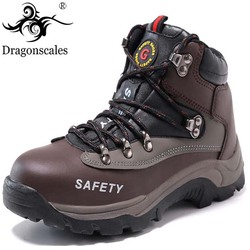 2019 New Men's Safety Shoes Construction Outdoor High Steel Toe Cap Safety Boots Men's Puncture Work Shoes Boots