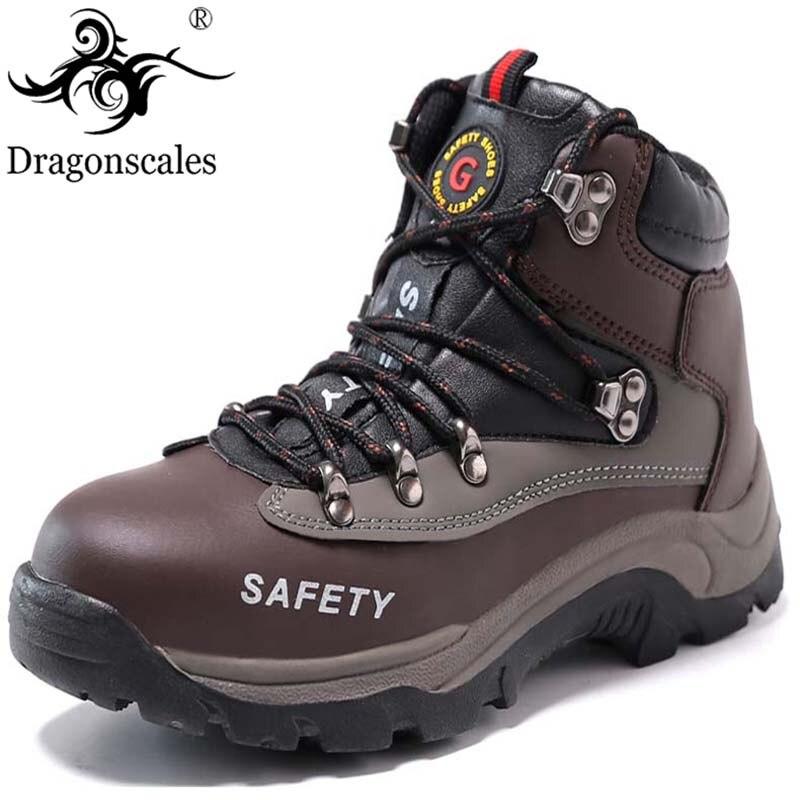 2019 nouvelles chaussures de sécurité pour hommes Construction en plein air en acier haut orteil bottes de sécurité hommes chaussures de travail de perforation bottes