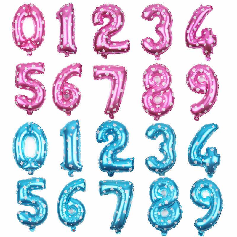 GOGO PAITY 16 pulgadas 32 pulgadas globo digital de aluminio oro plata negro Rosa oro número vacaciones fiesta decoración globos